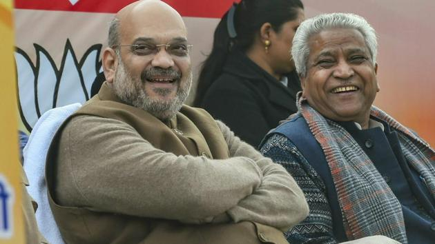 BJP President Amit Shah will address party workers in Punjab's Amritsar on Feb 24.(PTI)
