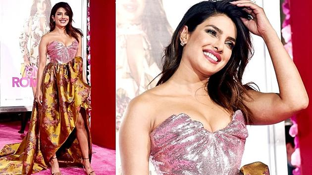 Priyanka Chopra isn't afraid to show off her bold sense of style in a Valentine's Day-esque dress that made us wonder if she was celebrating the day of love a few days early. (Instagram)