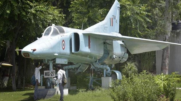Fighter planes MIG 27 displayed at Maharaja Ranjit Singh War Museum Ludhiana on Thursday, August 17, 2017.(Photo by Gurpreet Singh/Hindustan Times)
