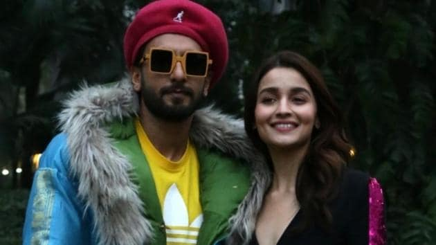 Actors Ranveer Singh and Alia Bhatt during a photo shoot ahead of release of their upcoming film Gully Boy in New Delhi.(IANS)