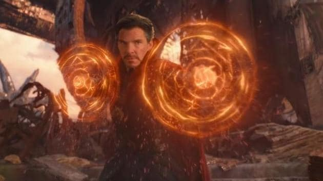Benedict Cumberbatch in a still from Avengers: Infinity War.