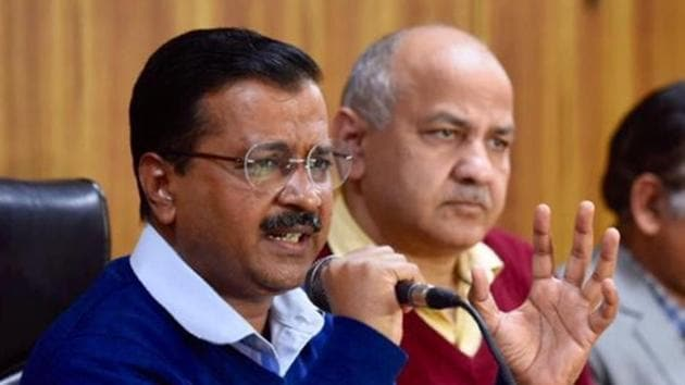 Delhi Chief Minister Arvind Kejriwal speaks during a press conference in New Delhi on February 14.(HT Photo/Burhaan Kinu)