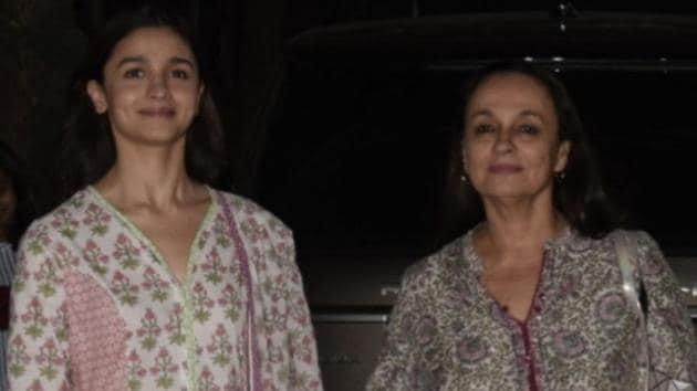 Alia Bhatt with her mother Soni Razdan at the screening of film Uri: The Surgical Strike in Mumbai.(IANS)