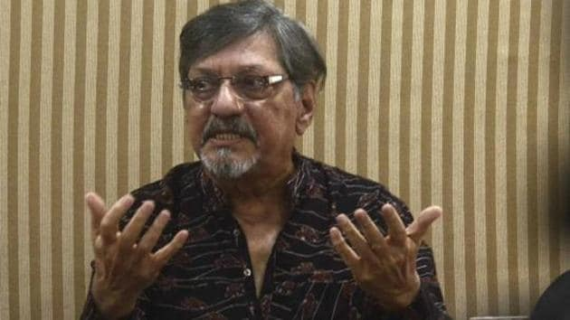 Actor Amol Palekar at a press conference in Pune following the NGMA snub.(HT Photo)
