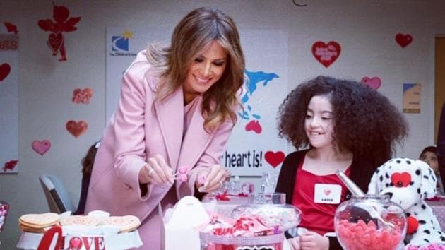The Children's Inn is a private, nonprofit residence for children and families participating in pediatric research at NIH.(Melania Trump/Twitter)