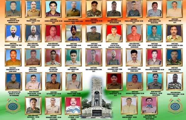 Saluting the martyrs who lost their lives in Thursday's terror attack in South Kashmir's Pulwama, the Central Reserve Police Force released a collage of photographs in their memory.(CRPF Photo)