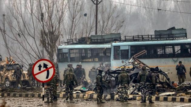 The CRPF personnel were killed on Thursday afternoon in one of the deadliest terror attacks in the restive state in decades.(PTI phooto)