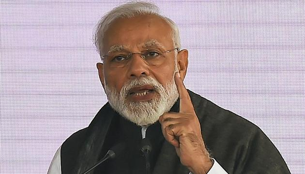 Prime Minister Narendra Modi said India will give fitting response to the Pulwama terror attack in Jammu and Kashmir.(AP photo)