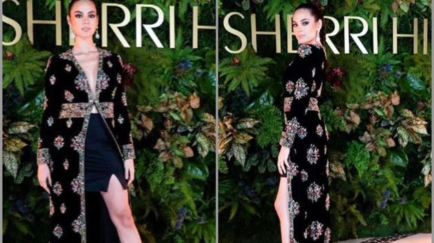 Catriona Gray called out for wearing a Sabyasachi design copy.(Catriona Gray/Instagram)