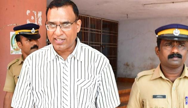 Father Robin Vadkumcherry (51), a senior Catholic priest was handed down 20 years of rigorous imprisonment on Saturday for sexually assaulting a minor girl for more than four years.(HT PHOTO)