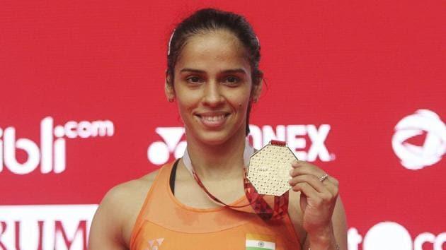 File image of Indian shuttler Saina Nehwal.(AP)