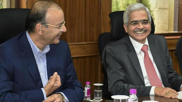 Speaking to reporters after Finance Minister Arun Jaitley addressed the board of the central bank, he said transmission of monetary policy decisions is important.(PTI)