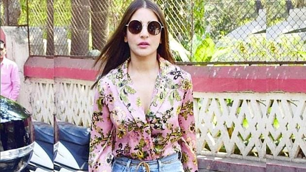 Anushka Sharma wore her floral and denim look with some flats and black sunglasses. (Instagram)