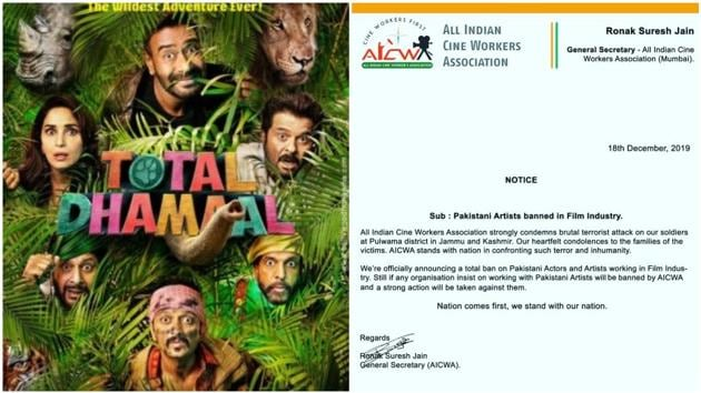 All Indian Cine Workers Association announces ban on Pakistani artists, actors