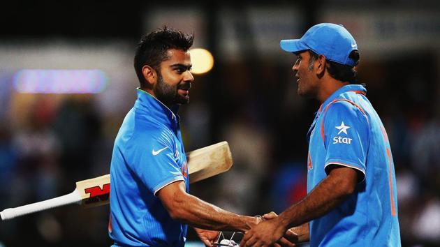File image of Virat Kohli and MS Dhoni.(Getty Images)