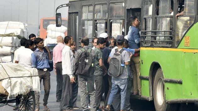 DTC runs 3,750 buses in Delhi. Yet, it is the biggest loss-making state road transport unit in the country.(Sonu Mehta/HT File)