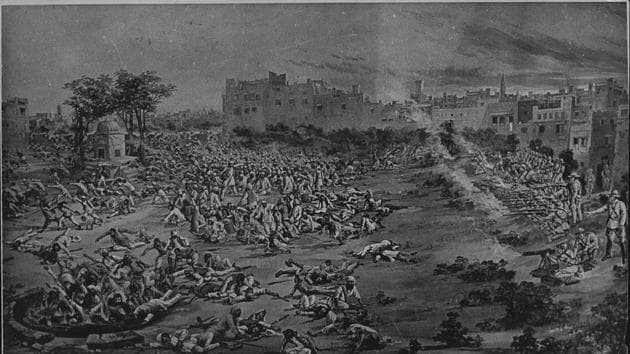Hundreds of people were killed when British troops under Brig-Gen Reginald Dyer's command fired on a crowd of unarmed Indians at Amritsar's Jallianwala Bagh on April 13, 1919.