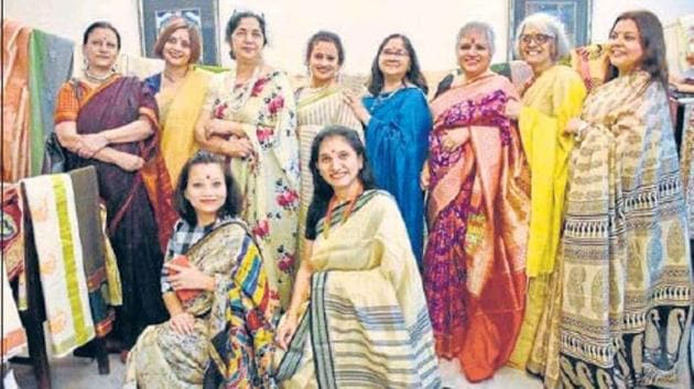Saree enthusiasts from across the length and the breadth of the city and the NCR have begun connecting with other lovers of the garment through the social media.