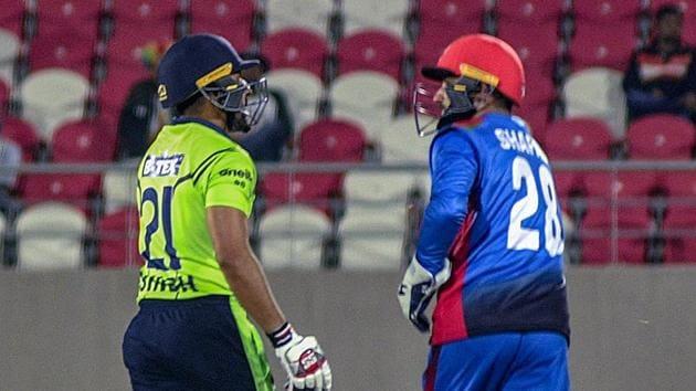 Afghanistan vs Ireland game in progress in Dehradun.(PTI)
