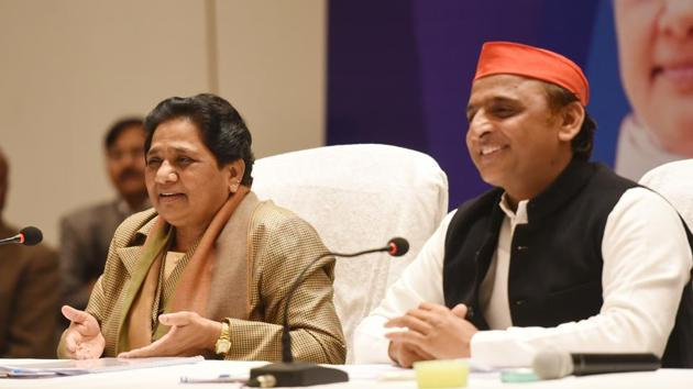 The two parties announced a tie-up for the parliamentary elections last month.(Subhankar Chakraborty/HT PHOTO)