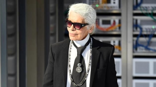 The late, Karl Lagerfeld, walks the runway during the Chanel show as part of the Paris Fashion Week Womenswear Spring/Summer 2017 on October 4, 2016 in Paris, France. (File Photo)