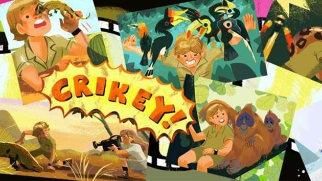 Google doodle remembers Steve Irwin on his birth anniversary today.(Google.com)