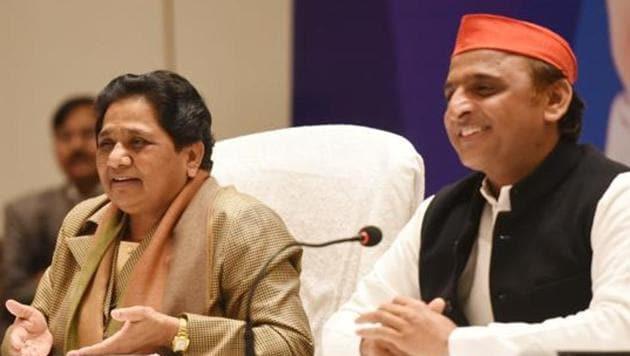 Bahujan Samaj Party (BSP) chief Mayawati and Samajwadi Party president Akhilesh Yadav(Subhankar Chakraborty/HT PHOTO)
