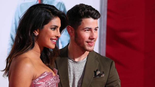 Seen here, Priyanka Chopra and Nick Jonas at the premiere of Isn't It Romantic in Los Angeles on February 11, 2019.(AFP)