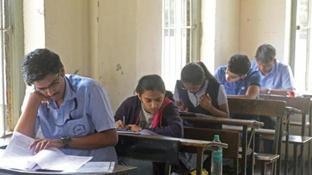 After teachers found that the question papers were set in Hindi, English teachers in the schools translated the questions for the students.(HTFile / Photo used for representational purpose)