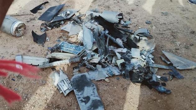 Pakistan drone shot down near the International Border in Kutch district of Gujarat, police sources said(ANI photo)