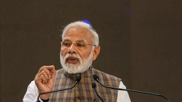 PM Modi, who chaired the Cabinet Committee on Security meeting that reviewed the situation at 10 am, met chiefs of the three armed forces.(PTI)