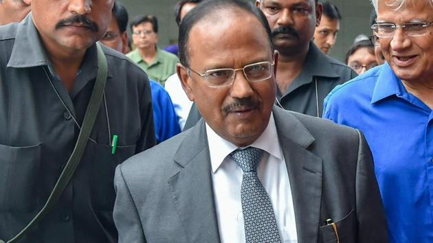 Mike Pompeo told Ajit Doval that the US supported India's decision to take target terror group Jaish-e-Mohammed's biggest camp.(PTI)