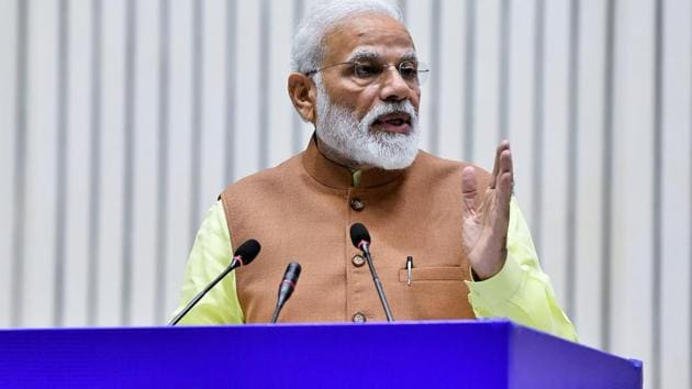 PM Modi's interaction with party workers left many opposition parties angry, with leaders saying it was badly timed given the stand-off with Pakistan following an air strike by India on a Jaish-e-Mohammed camp and a subsequent incursion by Pakistani jets.(ANI)