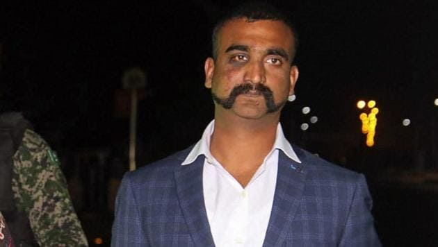 Indian Air Force (IAF) pilot Wing Commander Abhinandan Varthaman as he is released by Pakistan authorities at Wagah border on the Pakistani side, Friday, March 1, 2019.(PTI photo)
