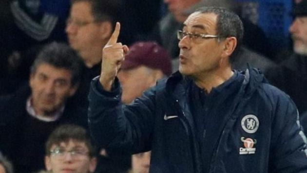 Chelsea manager Maurizio Sarri.(REUTERS)