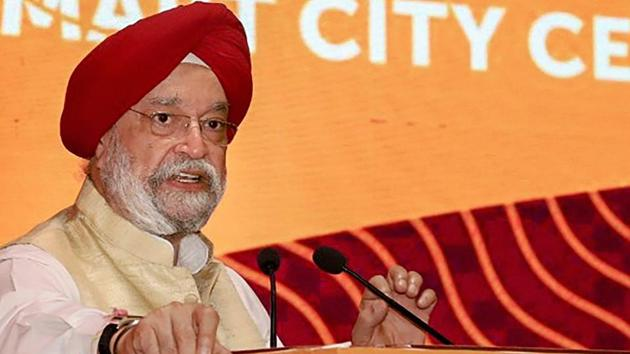 Union minister of state for housing and urban affairs Hardeep Singh Puri said that the government will release proof of air strikes on JeM camp at the right time.(PTI File Photo)