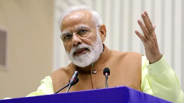 The remarks were made by PM Modi while he was interacting with students on Saturday at the Smart India Hackathon organised by IIT Roorkee.(Bloomberg)