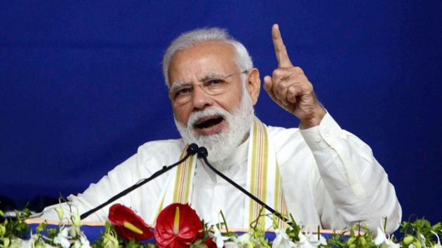 """PM Modi also targeted the Opposition for indulging in """"vote-bank politics"""".(PTI)"""