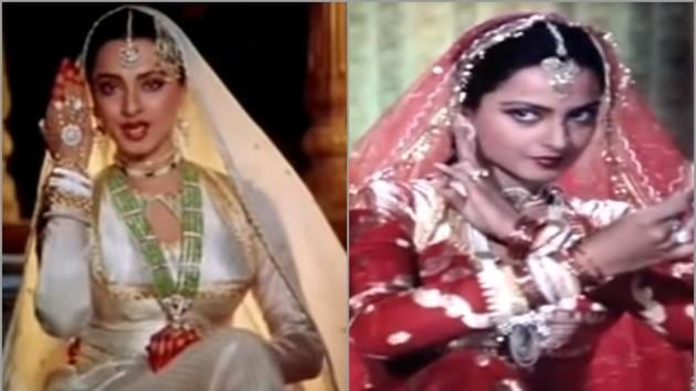 Stills from Umrao Jaan starring Rekha in the lead role, directed by Muzaffar Ali.(YouTube)