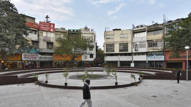 The market, constructed in the 1970s, had the legendary Priya's cinema that used to screen Hollywood movies in the old days.(Burhaan Kinu/HT PHOTO)
