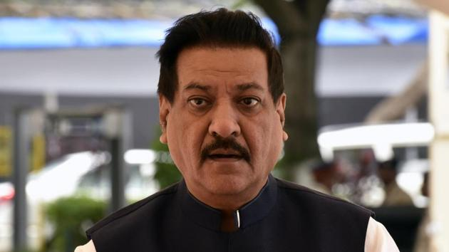 File photo of senior Congress leader Prithviraj Chavan. The former Maharashtra chief minister has said he won't contest the Lok Sabha elections this time.(Kunal Patil/HT Photo)