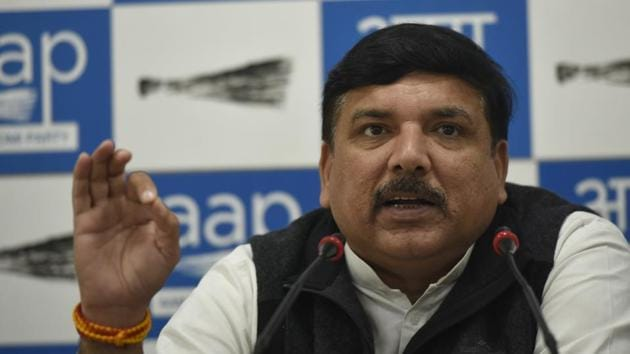 The Supreme Court cited some statements made by Aam Aadmi Party MP Sanjay Singh and refused to hear his plea while hearing the review petition in the Rafale case.(Biplov Bhuyan/HT PHOTO)