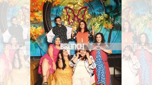 (Clockwise) Sonal Somani, Amena Azeez, Tanvi Geetha Ravishankar, Dimple Mehta, Neelakshi Singh and Shubham Yadav show how style is about confidence, not weight (Location courtesy: Butterfly High, Mumbai; Make-up and hair: Ashu Mois)(Photos shot exclusively for HT Brunch by Shivangi Kulkarni)