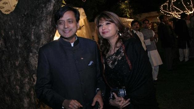 A Delhi court on Thursday reserved its order on a plea by Congress MP Shashi Tharoor challenging the committal of the Sunanda Pushkar death case to sessions court.(HT File Photo)