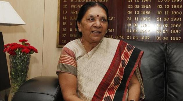 Madhya Pradesh governor Anandiben Patel(Hindustan Times file photo)