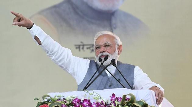 """PM Modi said Pakistan had done its preparation after Pulwama attack expecting a post-Uri style surgical strike, but """"we went by air"""".(ANI)"""