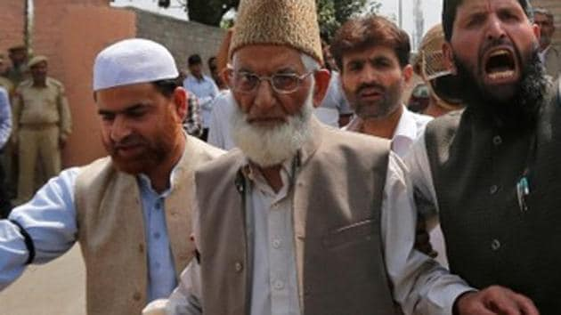 The most important member of the JeI (J&K) in the Hurriyat Conference is Syed Ali Shah Geelani, who was at one point of time designated as the 'Amir-e-Jihad' (Head of Jehad) of Jammu and Kashmir by the proscribed organisation.(Reuters/File Photo)