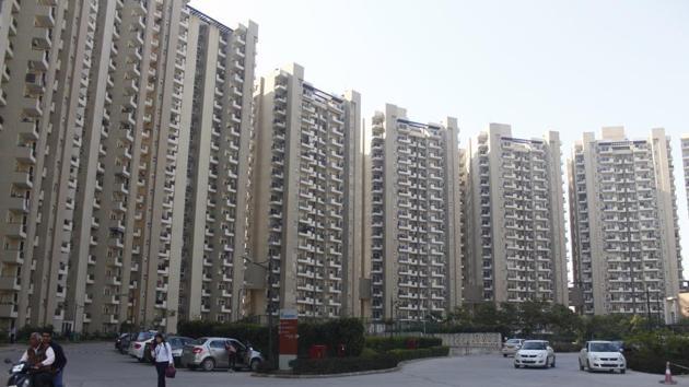 Mapsko Casa Bella a residential condominium at Sector-82, in Gurugram.(Yogendra Kumar/HT PHOTO)