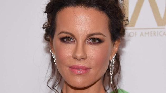 Actress Kate Beckinsale arrives for the 30th Annual Producers Guild Awards at the Beverly Hilton.(AFP)