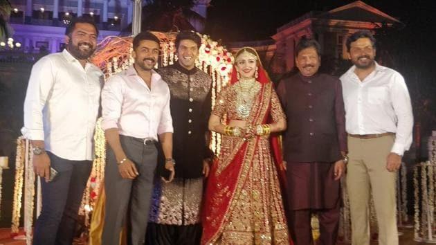 Arya and Sayyeshaa Saigal wedding photos are going viral online.